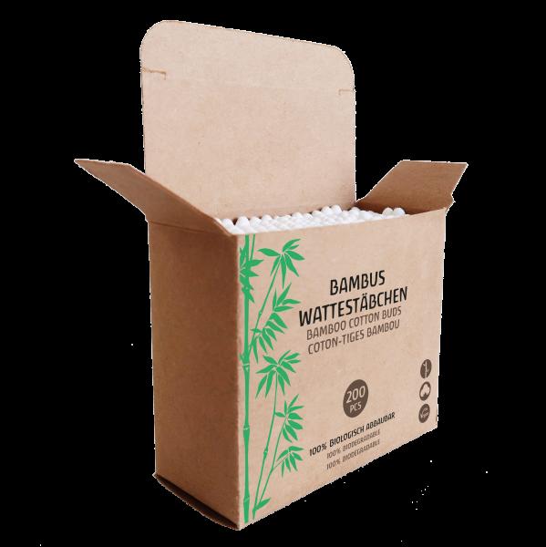 200 Bambus Wattestäbchen